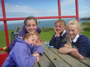 Broad Haven pupils - Celtic Camping