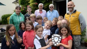 Manorbier presenting St Florence with the trophy